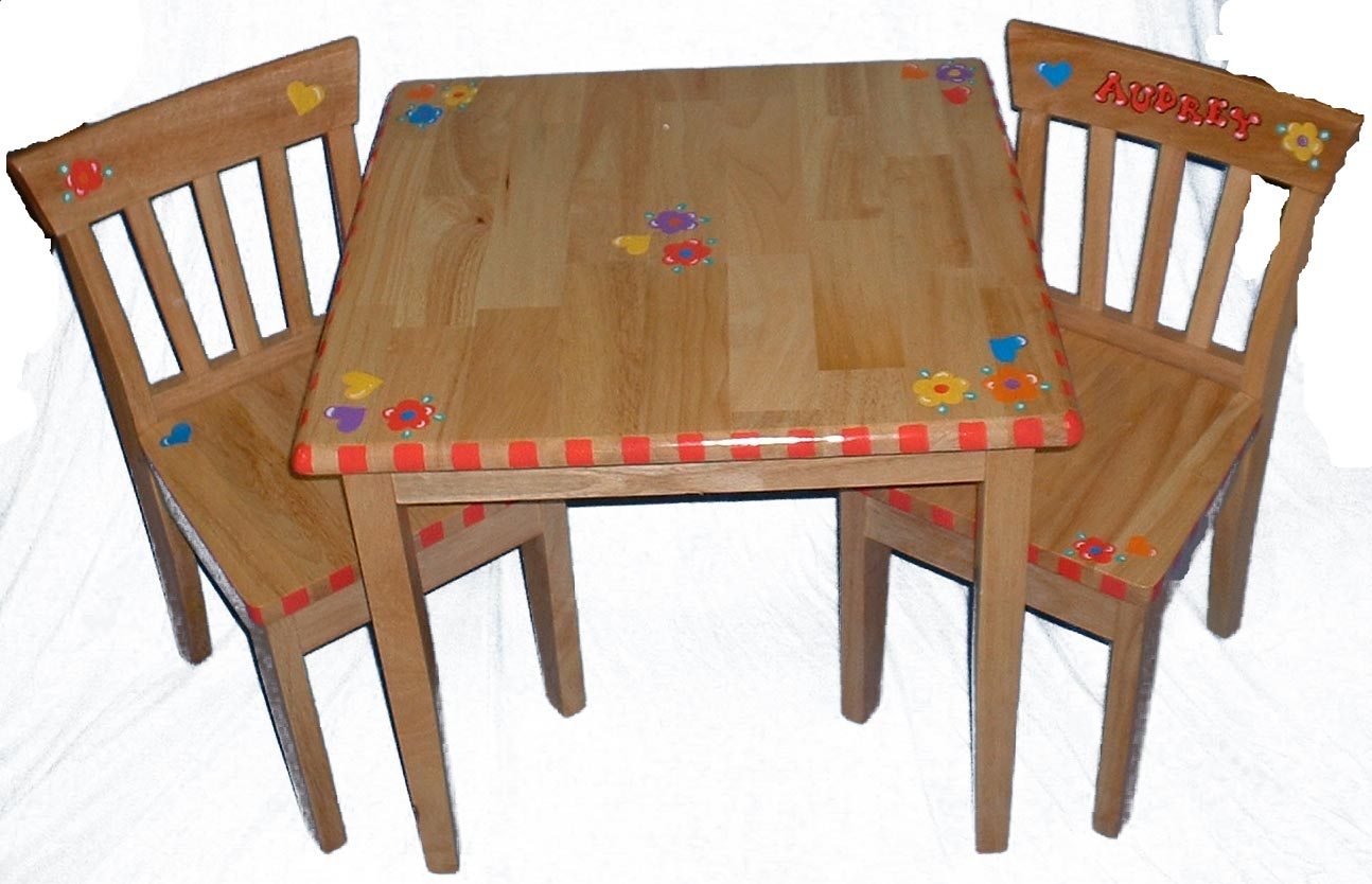 ... Table u0026 Chair Set. images  sc 1 st  Promises Fulfilled & Hand Painted Square Table u0026 Chair Set u2013 Promises Fulfilled