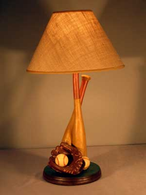 vintage baseball table lamp - Baseball Lamp